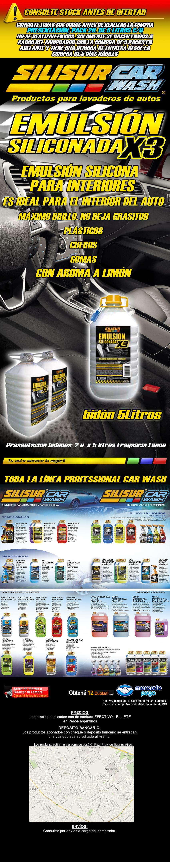 silisur carwash emulsion x3 siliconada 5 litros